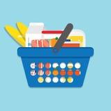 客户购物的超级市场 免版税图库摄影