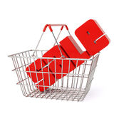 客户购物的超级市场 皇族释放例证