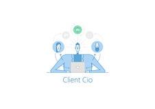 客户CIO例证 库存图片