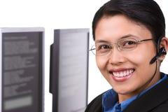 客户hori服务微笑 图库摄影