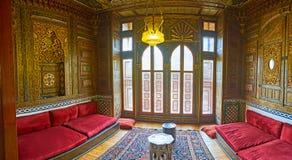 客房在Manial,开罗,埃及招待会宫殿  库存照片