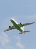 客机空中客车A-319-114西伯利亚航空公司 免版税库存照片