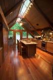 客舱厨房垂直 免版税库存照片