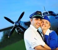 客舱夫妇乘员组 免版税图库摄影