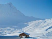 客舱山滑雪倾斜 图库摄影