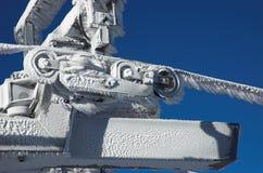客舱建筑冻结的推力 库存图片