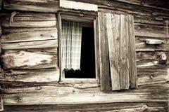 客舱老视窗 免版税图库摄影