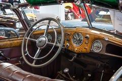 客舱豪华汽车Horch 853敞蓬车, 1938年 库存照片