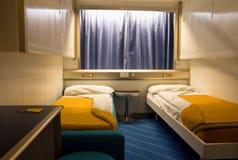 客舱轮渡内部乘客 免版税图库摄影