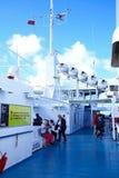 客船甲板,马耳他 库存图片