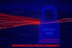 黑客被窃取的计算机数据图表 免版税库存照片