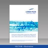 宣传手册的模板。 免版税库存图片