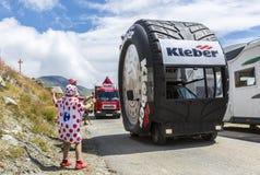 宣传有蓬卡车-环法自行车赛喜悦2015年 图库摄影