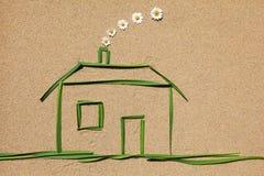 宣扬干净的概念房子 免版税库存图片
