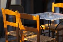 宣扬开放的咖啡馆 库存照片
