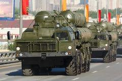 300 2008宣扬长的导弹莫斯科游行范围俄国s表面系统对胜利 库存照片