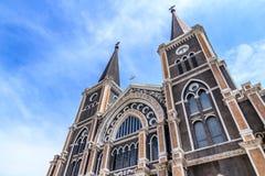 宣武门天主堂在庄他武里,泰国 免版税库存照片
