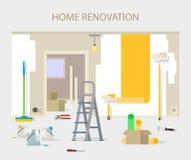 室修理在家 内部整修在公寓和房子 免版税库存图片
