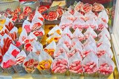 室内圣米格尔火山西班牙语市场:梅尔卡多de圣米格尔火山 库存图片