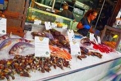 室内圣米格尔火山西班牙语市场:梅尔卡多de圣米格尔火山 免版税库存照片
