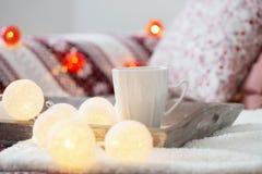 室内圣诞节装饰 免版税库存照片