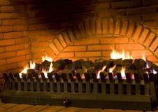 室内壁炉 免版税库存图片
