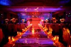 室内婚礼场面 免版税库存图片
