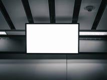 室内广告媒介的空白的LCD屏幕显示嘲笑 库存照片