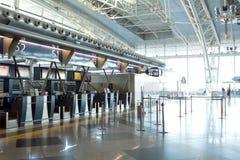 室内机场 免版税库存照片