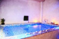 室内极可意浴缸 图库摄影