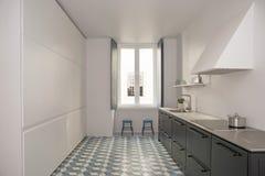 室内设计厨房在Chiado里斯本葡萄牙 免版税库存图片