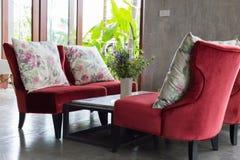 室内设计客厅现代样式 免版税库存图片