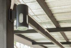室内设计或外部设计的壁灯 库存照片