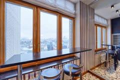室内设计现代厨房在新房里 库存图片