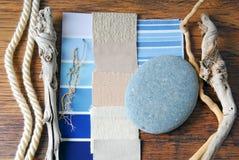 室内设计颜色和室内装饰品计划 图库摄影