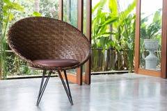 室内设计,沙发家具现代风格 免版税库存图片