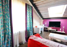 室内设计:一个现代客厅 免版税库存图片