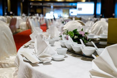 室内饭桌 免版税图库摄影