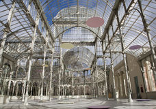 马德里- Palacio de Cristal或水晶宫在Buen Retiro公园 免版税库存照片