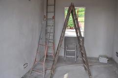 室内建筑工地 免版税库存照片