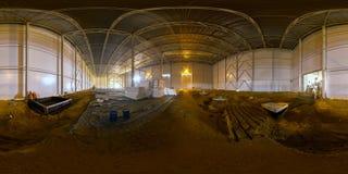 室内建造场所球状全景 库存照片