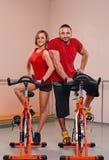 室内bycicle循环的画象 库存图片