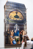 室内Gallerie小山谷` Accademia在威尼斯 库存图片