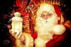 室圣诞老人 库存照片