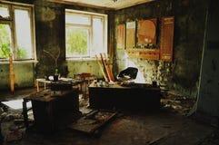 室在被放弃的学校, Pripyat 库存照片