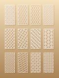 室墙壁的12个激光样式在阿拉伯样式 在一个长方形的传统东方装饰品a设计的  向量例证
