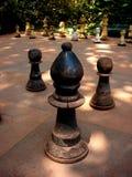室外一盘象棋 库存照片
