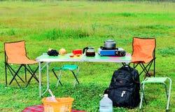 室外休闲和野营的产品 免版税库存图片