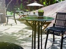 室外位子餐馆和咖啡馆 图库摄影