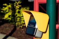 室外信用卡支付终端 免版税库存图片